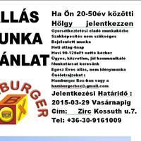 Álláslehetőség - Hamburger Box