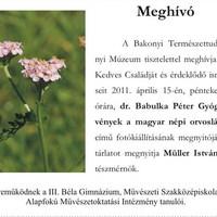 Gyógynövények a magyar népi gyógyításban - fotókiállítás