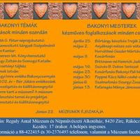 Reguly Antal Múzeum és Népművészeti Alkotóház május-júniusi programsorozata