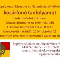 Kosárfonó tanfolyam haladóknak a Reguly Antal Múzeum és Népművészeti Alkotóházban