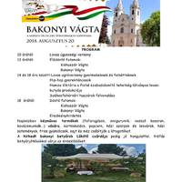 Bakonyi Vágta programja - 2018. augusztus 20., hétfő
