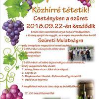Szüreti mulatság - Csetény, 2018. szeptember 22., szombat