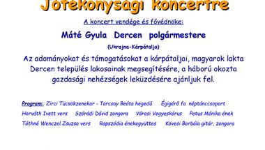 Jótékonysági koncertet szerveznek Dercen megsegítésére