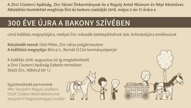 Zirc 300 kiállításmegnyitó