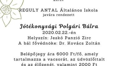 Jótékonysági Polgári Bál - 2020.02.22., szombat