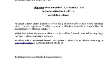 Helyi Márka kialakítása a Bakonyban - Szektor Szeminárium ülés