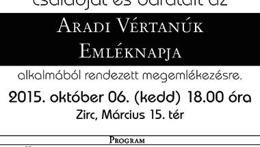 Október 6. - Aradi Vértanúk Emléknapja