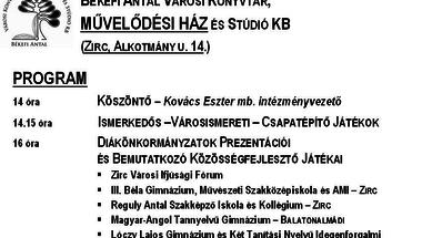 Zirci Diáknap  2012.november 9.péntek