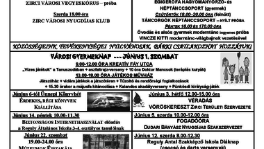 Programok júniusban