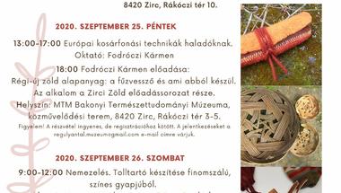 Alkotóházak Hétvégéje - Zirc, 2020. szeptember 25-26.