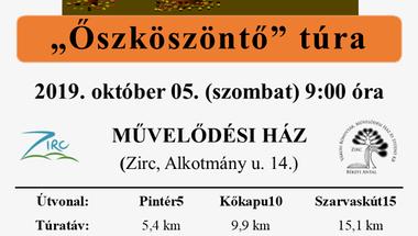 """""""Őszköszöntő"""" túra - Zirc, 2019. október 5., szombat"""