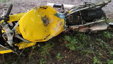 Halálos motoros baleset - Cseszneknél