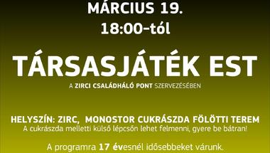 Társasjáték est - 2020.03.19., Zirc
