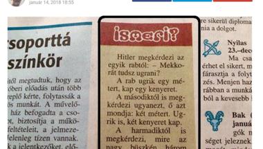 """""""Az internet nem felejt: Náci vicc a Veszprém Megyei Naplóban"""""""