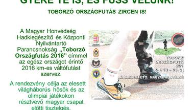 """""""Toborzó Országfutás 2016"""" - Zircen is"""