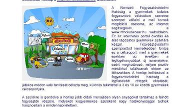 Új fogyasztóvédelmi honlap kisgyermekek részére