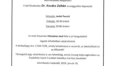 Jótékonysági Polgári Bál - Zirc, 2019.január 19.