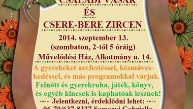 Családi vásár és csere-bere - 2014. szeptember 13.