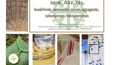 Kézműves tanfolyamok 2018 ősz-tél
