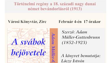 A svábok bejövetele című könyv bemutatója a Városi Könyvtárban