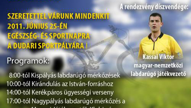 Egészség és sportnap Dudaron