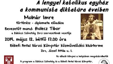 A lengyel katolikus egyház a kommunista diktatúra éveiben - Molnár Imre előadása