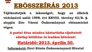 Ebösszeírás 2013