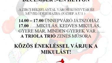Ünnepváró játszóház, találkozás a Mikulással 2011.december 5.