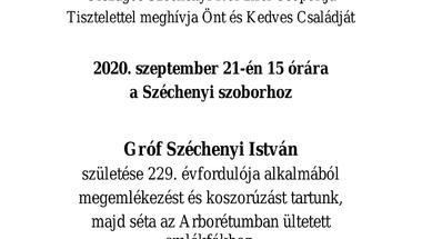 Gróf Széchenyi István - megemlékezés, koszorúzás - 2020. szeptember 21., 15 óra