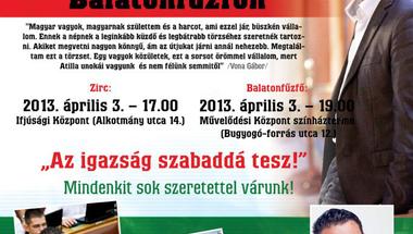 Vona Gábor lakossági fóruma Zircen