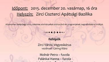Zirci Városi Vegyeskórus karácsonyi koncertje