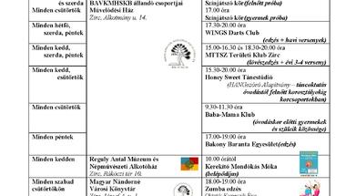 Zirci programok 2015. június