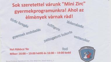 """Mini Zirc"" - gyermekprogramok"