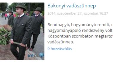 Bakonyi vadászünnep