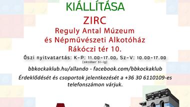 A Balaton-Bakony Kocka Klub LEGO-gyűjteményének kiállítása