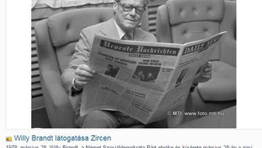 Willy Brandt látogatása Zircen - vihart kavart