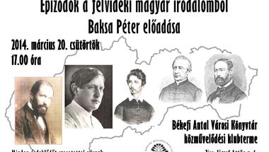 Epizódok a felvidéki magyar irodalomból - Baksa Péter előadása