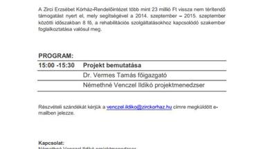 Meghívó sajtótájékoztatóra - 2014. 11. 06