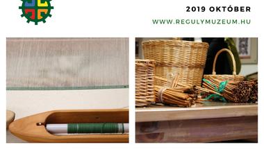 Kézműves tanfolyamok a Reguly múzeumban - 2019. október