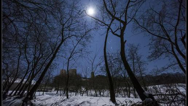 Holdfényes télben a cseszneki várnál