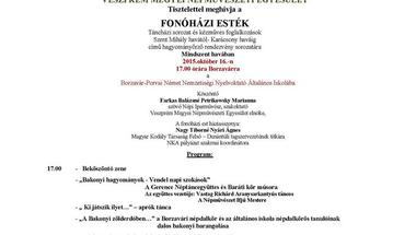 Fonóházi esték - Borzaváron, 2015. október 16-án