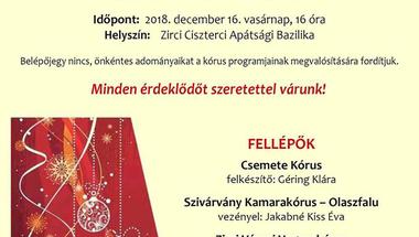 Adventi Koncert - Zirc Városi Vegyeskórus, 2018.12.16., vasárnap