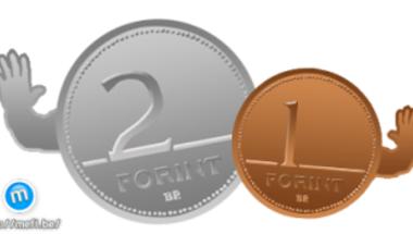 Február 28-ig még beválthatók az 1 és 2 forintos érmék