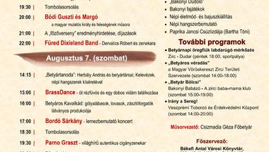XXII. Bakonyi Betyárnapok - 2021. augusztus 6-7., Zirc