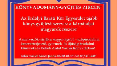 Könyvadomány-gyűjtés Zircen
