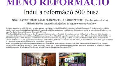 Menő Reformáció Vándorbusz kiállítás