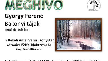 György Ferenc kiállítása a Békefi Antal Városi Könyvtárban