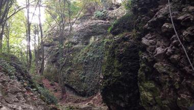 Arccal csapódott a sziklának