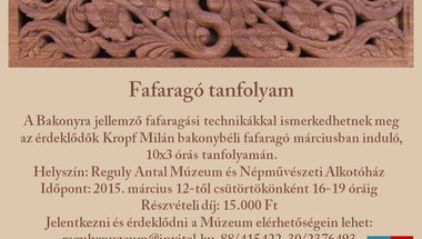 Fafaragó tanfolyam a Reguly Múzeumban