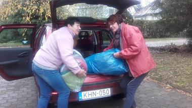 Zirc lakossága ismét példát mutatott - 2,6 tonna adomány